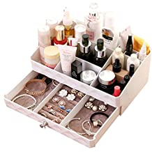 Cosmetics Storage Box Large Size Household Dressing Table Plastic Drawer-style Desktop Jewelry Dresser (A)