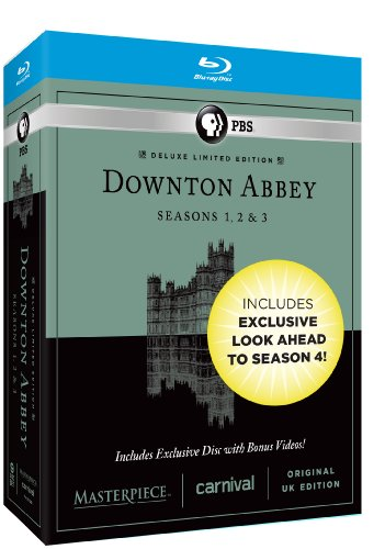 Masterpiece: Downton Abbey Seasons 1, 2 & 3 Deluxe Limited Edition (Amazon Exclusive Season 4 Bonus Features) [Blu-ray]