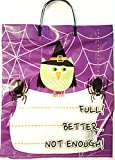 Halloween Trick or Treat Safety Bundle with Purple & Green Owl Reflector Bag and Bright LED Flashlight (Bundle 2)