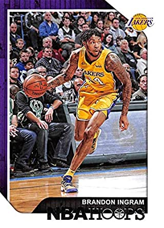 94313009e70 2018-19 NBA Hoops Basketball #185 Brandon Ingram Los Angeles Lakers  Official Trading Card
