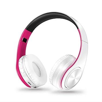 PMWLKJ Mejores Auriculares Bluetooth Auriculares Inalámbricos con La Caja De Carga Auriculares Deportivos Rosa Blanco: Amazon.es: Electrónica