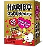 Haribo Gold-Bears Valentines - 25 Bags for Valentine Exchange