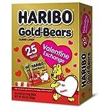 gummy bear haribo - Haribo Gold-Bears Valentines - 25 Bags for Valentine Exchange