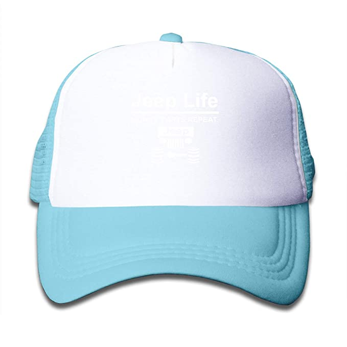 a66454347bf79 Image Unavailable. Image not available for. Color: Jeep Life Money Parts  Repeat Sun Mesh Baseball Caps Kids Protection Hats ...
