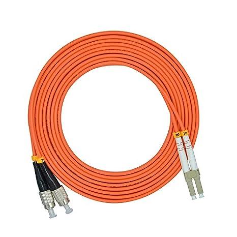 Jeirdus 30Meters 100ft ST to ST Duplex 62.5//125 OM1 Multimode Fiber Optic Cable Jumper Optical Patch Cord ST-ST FBM-STST1MD030
