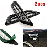 pontiac fender covers - CHAMPLED 2pcs Side Body Marker Fender Air wing Black Vent Trim Cover Chrome For All The Car For FORD CHRYSLER CHEVY CHEVROLET DODGE CADILLAC JEEP GMC PONTIAC HUMMER LINCOLN BUICK