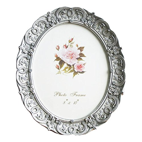Amazon.com - 8x10 Inch Oval Picture Frame Photo Frame Gray Vintage ...