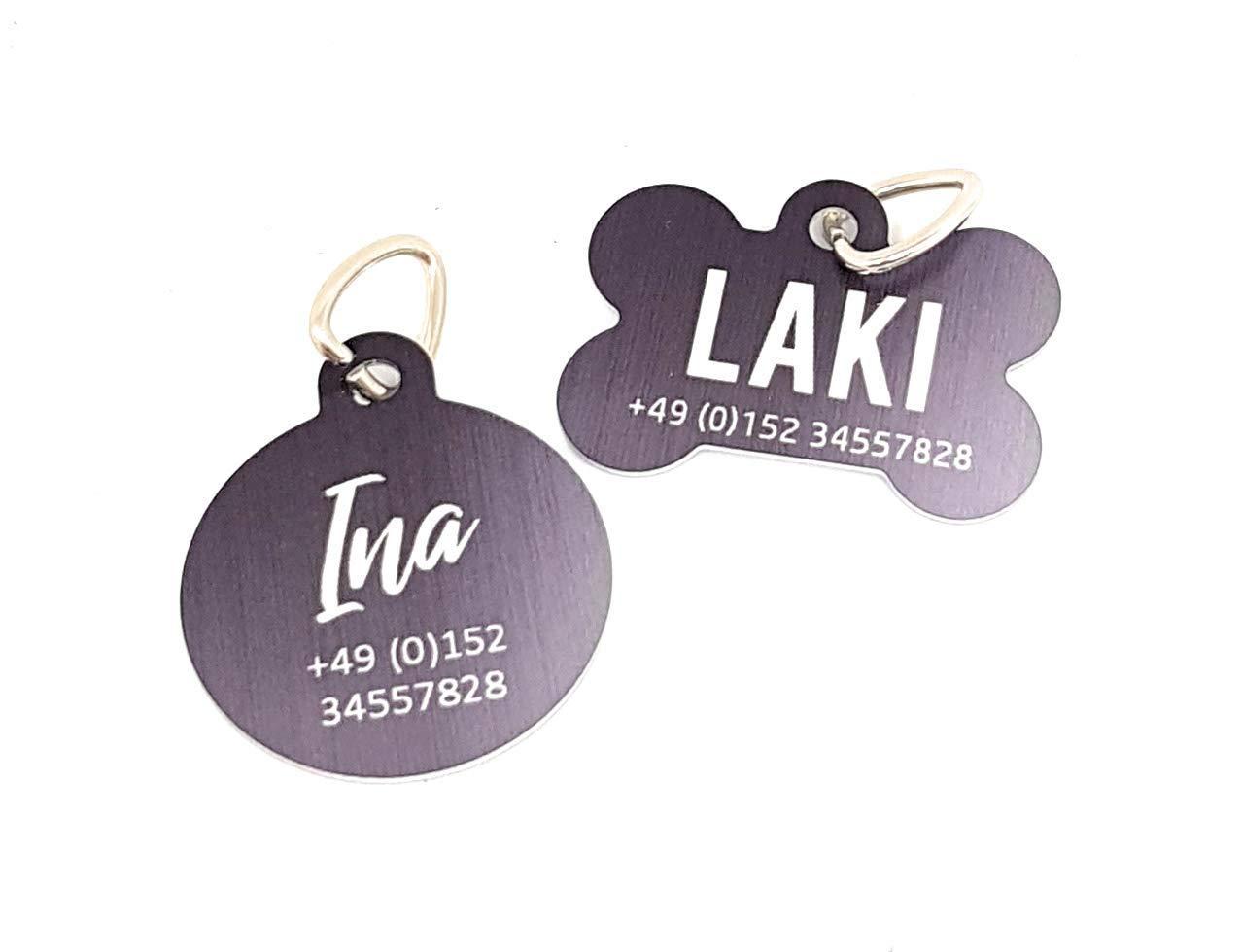 Halsbandanhä nger I Adressanhä nger I ID-Tag I Hundeanhä nger I personalisiert mit Namen und Telefonnummer oder Adresse. Prima Weihnachtsgeschenk