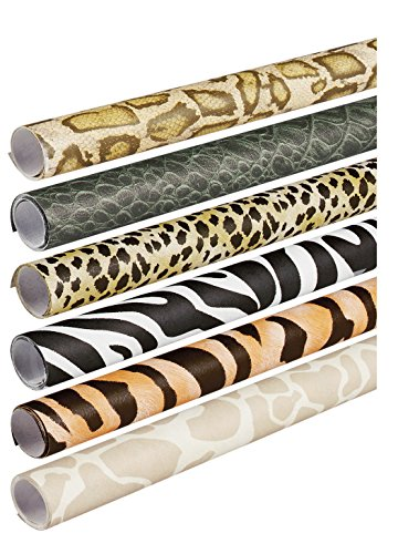 Pacon Fadeless Safari Prints Art Paper, 2-Feet by 8-Feet rolls, 6 Assorted Designs (56920) ()