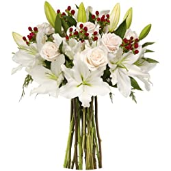 Benchmark Bouquets White Elegance, No Vase for Valentine's Day
