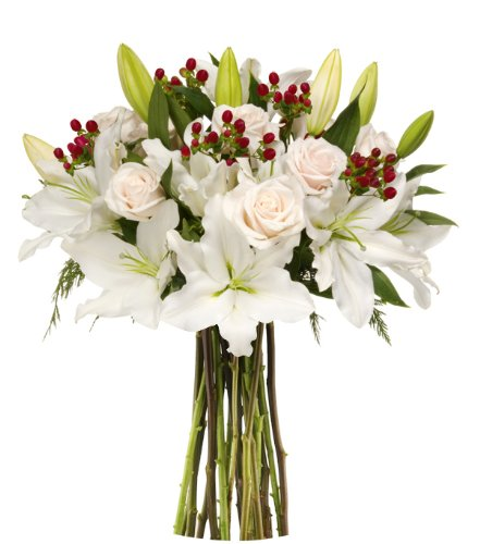 Benchmark Bouquets White Elegance, No Vase (Floral Arrangements For A Funeral)