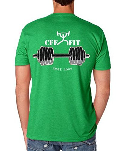 Armour Under Cabelas - CFF Outfitters Men's Barbell Club T-Shirt w/Free Protein Shaker Cup (Kelly Green, Large)