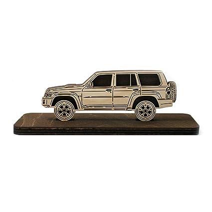 Amazon com: Car Wood Figurine Nissan Patrol Y61 Plywood Sideview