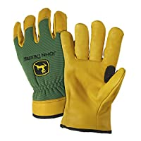 John Deere Deerskin Leather Gloves (Pack of 2)