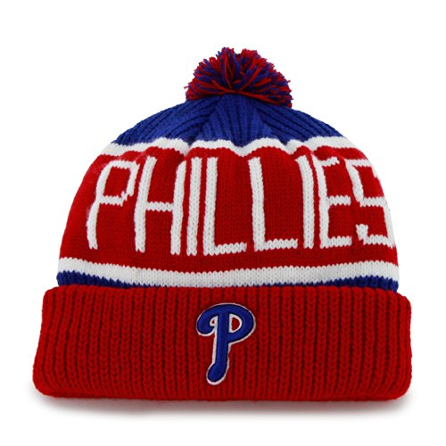 MLB Philadelphia Phillies Men's Calgary Knit Cuff Cap, One-Size, Royal