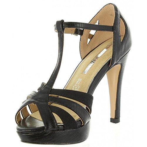 Sandales C32728 MARIA Pour Lizard Negro MARE Femme 66710 PnW5qWS
