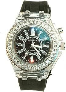 Luminous Colourful light Diamond-studded Casual Watch