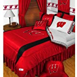 NCAA Wisconsin Badgers King Comforter Pillowcases Set College Football Team Logo Bed