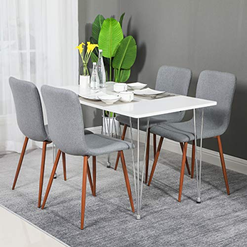 Phenomenal Coavas Set Of 4 Kitchen Dining Chairs Assemble All 4 In 5 Short Links Chair Design For Home Short Linksinfo