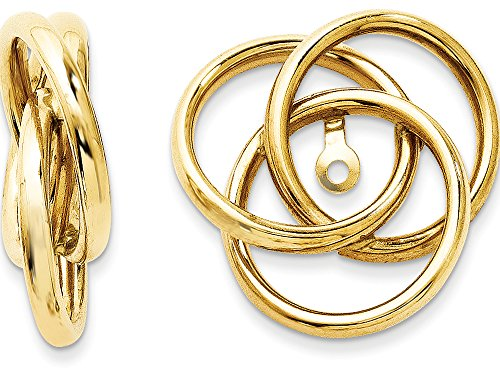 Polished Love Knot Earring Jackets 14kt by Finejewelers