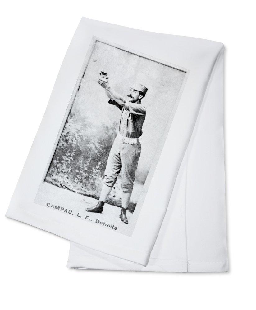 デトロイトWolverines – カウントCampau – 野球カード Cotton Towel LANT-22432-TL Cotton Towel  B0184BQRP8