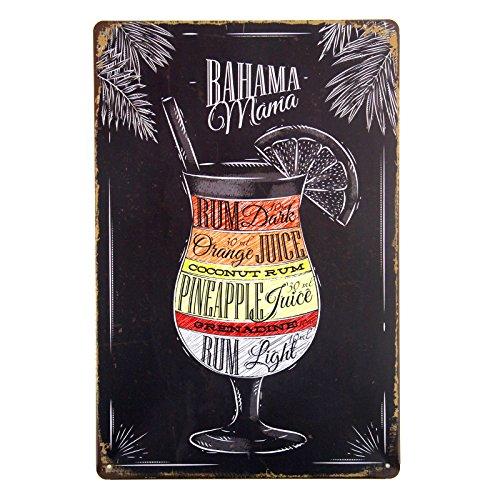 Alcohol Tin Sign (T-ray Cocktails Spirit Alcohol Tin Sign Metal Poster Wall Decor Pub Bar Tavern Display)