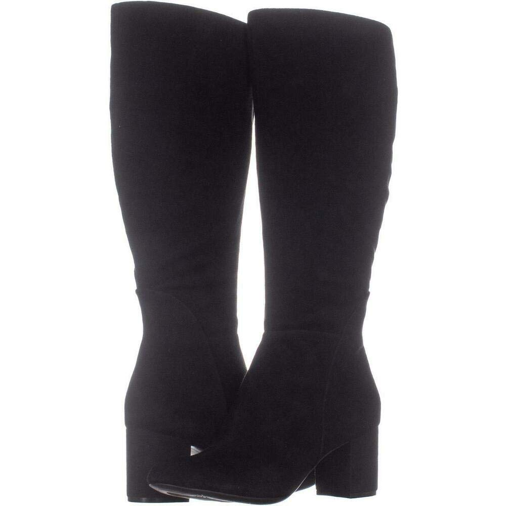Black Suede INC International Concepts Womens Radella Closed Toe Over Knee Fashion Boots