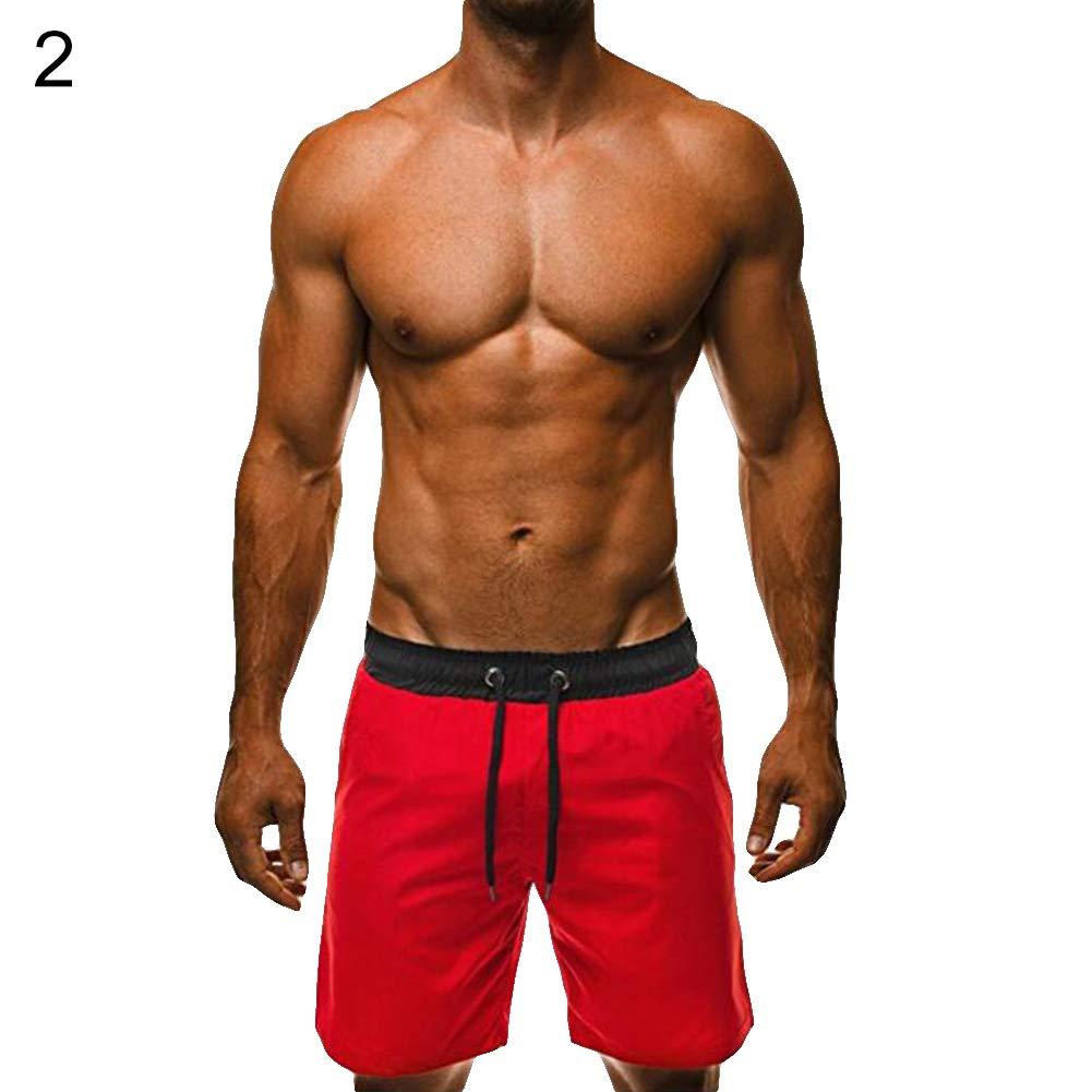 Move on Drawstring Men Casual Sport Hot Spring Beach Swimming Summer Short Pants