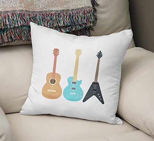 Guitar Pillowcase Throw pillowcase fun pillow case glider patio pillowcase gift idea outdoor decorative pillowcase