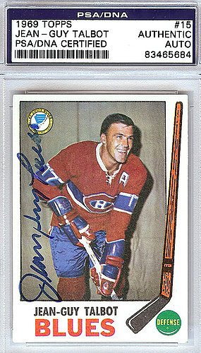 Jean-Guy Talbot Signed 1969 Topps Trading Card #15 - Certified Genuine Autograph By PSA/DNA - NHL Hockey Card