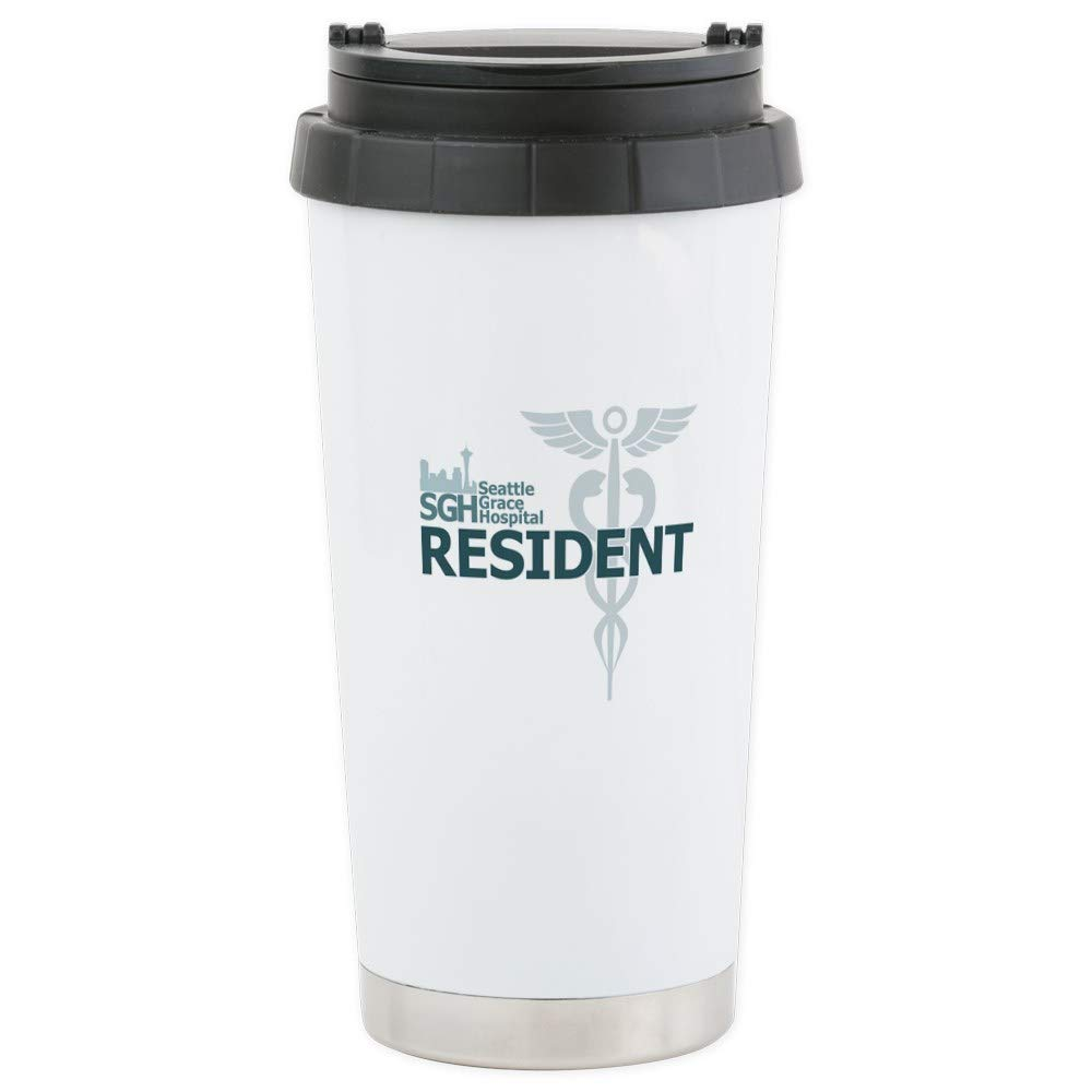 CafePress Seattle Grace Resident Stainless Steel Travel Mug Stainless Steel Travel Mug, Insulated 16 oz. Coffee Tumbler