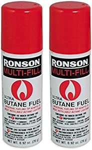 LOT OF 2 RONSON MULTI-FILL ULTRA BUTANE FUEL 26g 0.92 oz NEW