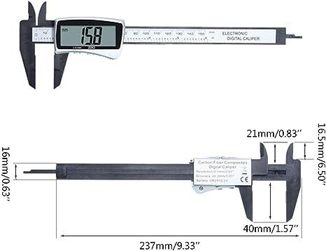 UN Noir Sweo Pied /à coulisse num/érique haute pr/écision 6 0-150 mm