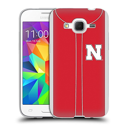 Official University Of Nebraska-Lincoln UNL Baseball Jersey Soft Gel Case for Samsung Galaxy Core Prime