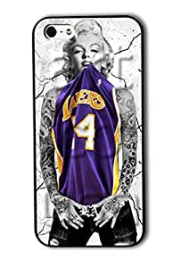 Tomhousomick Custom Design Women's Fashion Cases Sexy Star Marilyn Monroe Play Basketball Style Case for iPhone 5 5S Back Cover #15