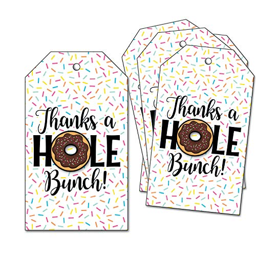 25 Doughnut Thank You Tags - Sprinkle Donut Party - Thanks a Hole Bunch