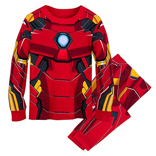 Marvel Iron Man Costume PJ PALS for Kids Size 10 Multi]()