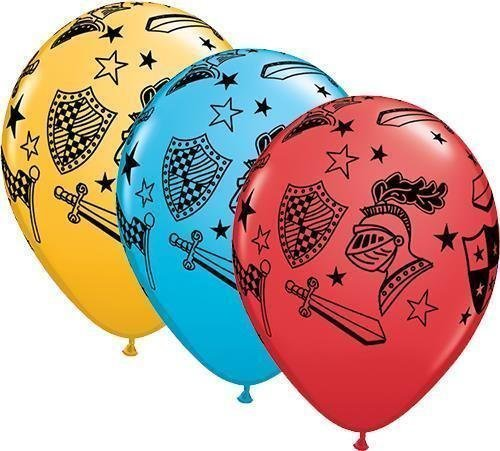 Qualatex Knights & Armour 11 Inch Latex Balloons (10 Pack) ()