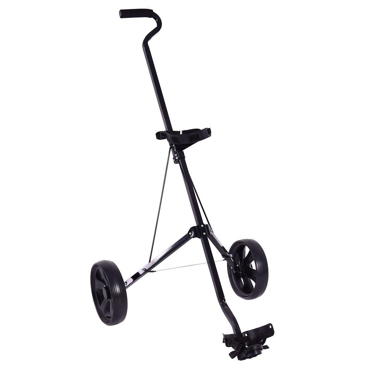 TANGKULA Lightweight Golf Pull Push Trolley Club Cart