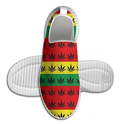Rasta Weed Cannabis Unisex Lightweight Casual Athletic Comfortable Running Shoes Sneakers 43