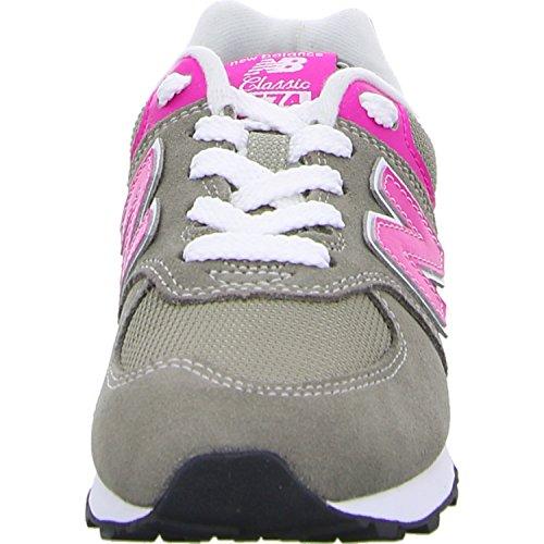 New Balance Unisex-Kinder Pc574v1 Sneaker Grey/Pink