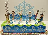 Disney Tinker Bell and Periwinkle The Secret of the Wings Birthday Cake Topper Set Featuring Tinker Bell, Periwinkle, Iridessa, Rosetta, Silvermist, Vidia and Secret of the Wings Themed Decorative Pieces