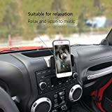 Sukemichi Universal Car Phone Mount for iPhone 7 Plus,8 Plus,X,7,6S,6,Samsung Galaxy Note S6 S7,Google Nexus,Huawei,Car Phone ipad Holder for Jeep 2012-2017 JK Wrangler,Silvery