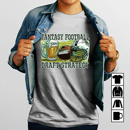 Football Fantasy Football Draft Strategy Beer and Football T Shirt Long Sleeve Sweatshirt Hoodie Youth (Best Strategy Fantasy Football Draft)