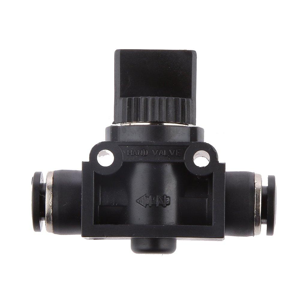 6mm 1/4 Conectores de Aire del Conector de Empuje Neumá tico de Vací o Vá lvula de Cierre del Interruptor Generic