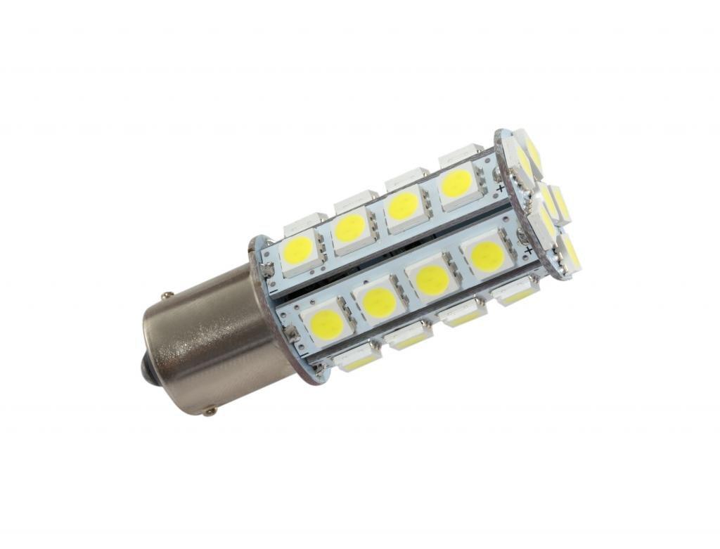 Grv Ba15s 1156 1141 High Power Car LED Bulb 30-5050SMD DC 12V Cool White Pack of 2