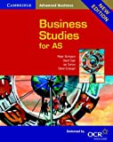 Cambridge Business Studies for AS, Peter Stimpson and Ian Dorton, 0521541832