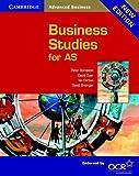 Cambridge Business Studies for AS, Peter Stimpson and Ian Dorton, 0521541832