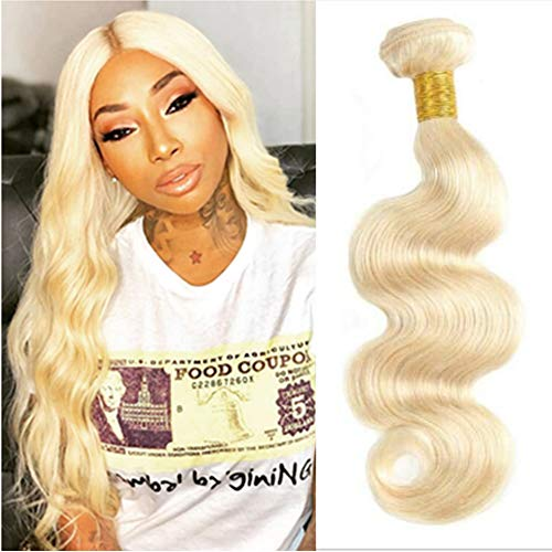 Blonde Weave Peruvian Body Wave #613 Color Human Hair Extensions Bundles Blonde Wholesale Bundles Bulk Brazilian Virgin Hair Remy Hair Bundles Blonde 1Pcs/Pack 24 Inch