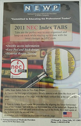 NEWP 2011 NEC Index TABS